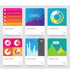 Colorful brochure document template vector