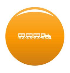 Compartment train icon orange vector