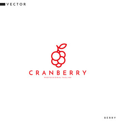 Cranberry logo line art vector