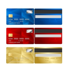 Credit Card set two sides vector image