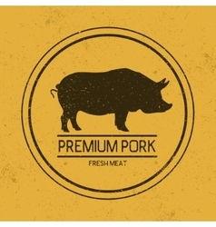 Dark mark for porkSilhouette of pig vector image
