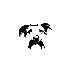 Dog head silhouette vector