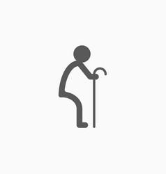 elderly people icon vector image
