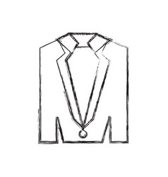Elegant suit icon vector