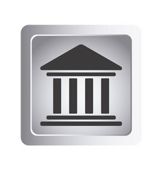 Emblem shape bank icon vector