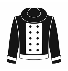 Female jacket icon simple style vector image