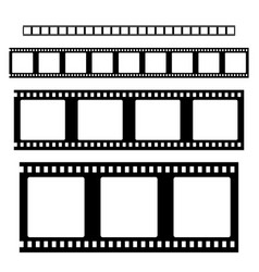 filmstrip set vector image