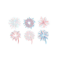 fireworks set design element for holidays vector image