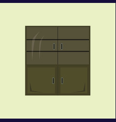 flat design cupboard icon vector image