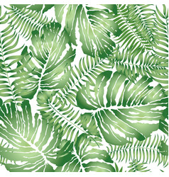 floral geometric tile pattern tropical leaves vector image
