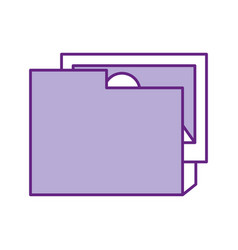 folder document with picture vector image