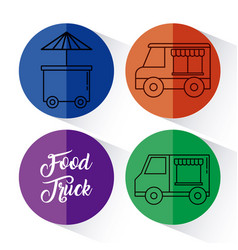Food truck design vector