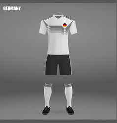 Football kit of germany 2018 vector