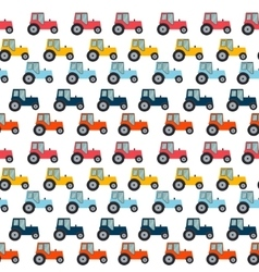 Ftat Tractor Seamless Pattern Background vector image