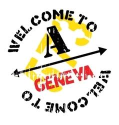 Geneva stamp rubber grunge vector
