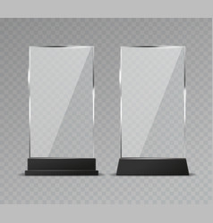 glass table display office transparent vector image