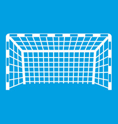Goal post icon white vector