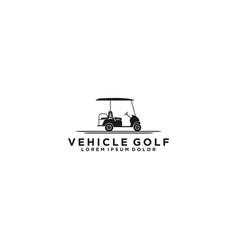 Golf car logo design vehicle vector