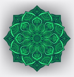 green floral round ornament vector image