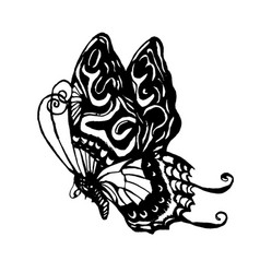 hand drawn sketch of butterfly vector image