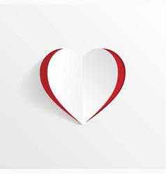 heart shape paper art cutout vector image