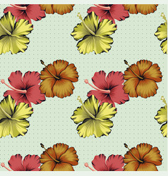 hibiscus flowers background peas vector image