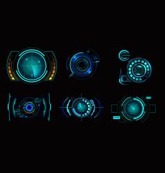 hud interface radar set vector image