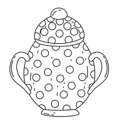 Isolated sugar bowl design vector