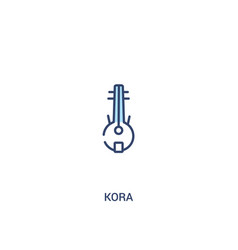 Kora concept 2 colored icon simple line element vector