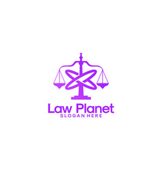 law planet logo designs law firm logo template vector image