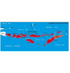 Lesser sunda islands map vector