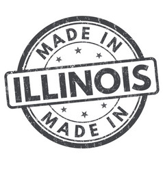 Made in illinois sign or stamp vector