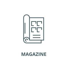 Magazine line icon linear concept outline vector