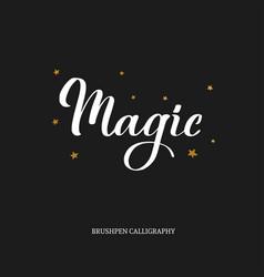 magic brushpen modern calligraphy vector image