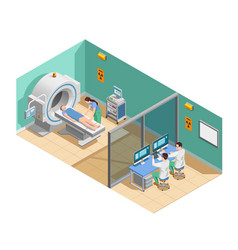 Medical examination isometric composition vector