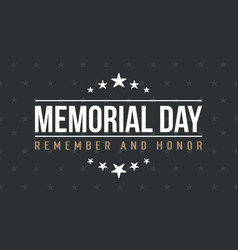 Memorial day background art vector