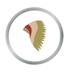 Mohawk indian icon cartoon Singe western icon vector