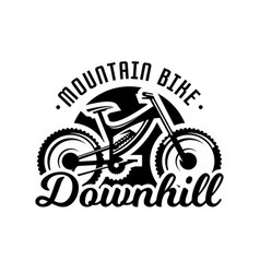 monochrome logo mountain bike downhill freeride vector image