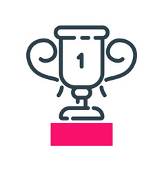 Motivation concept winner cup icon business vector