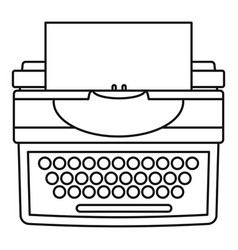 New typewriter icon outline style vector