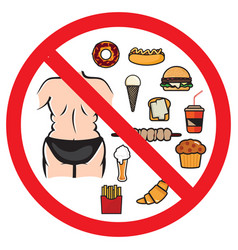 No fat foods sign vector