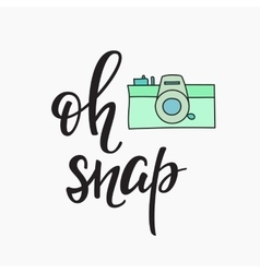 Oh snap Photo Booth Vintage old camera vector