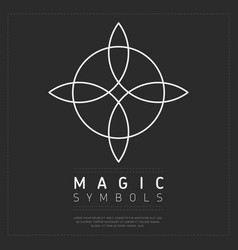 Ornamental linear magic symbol vector