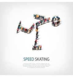 people sports speed skating vector image vector image