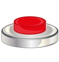 Red button on white vector