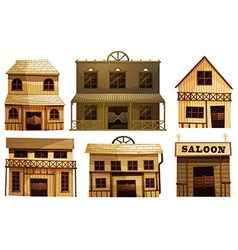 Saloon bars in the West vector