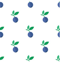 Seamless pattern with blueberry vector
