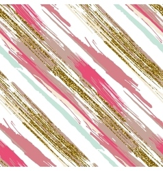 seamless pattern with gold glitter textured vector image
