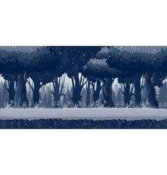 Seamless pine trees at night vector image
