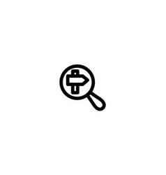 search icon template sign design vector image